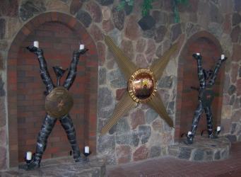 Dekoratyvinis reljefas- Zmogaus sielos busena, bronza,auksavimas